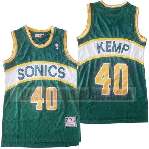 Maillot Seattle Supersonics clásico 2018-19 Shawn Kemp 40 Homme vert