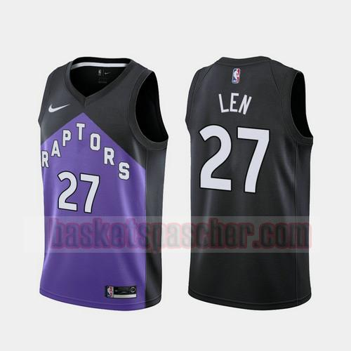 Maillot Toronto Raptors 2020-21 Earned Edition Alex Len 27 Homme morado