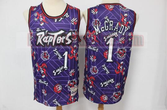 Maillot Toronto Raptors Tear Up Pack Swingman Tracy McGrady 1 Homme Pourpre