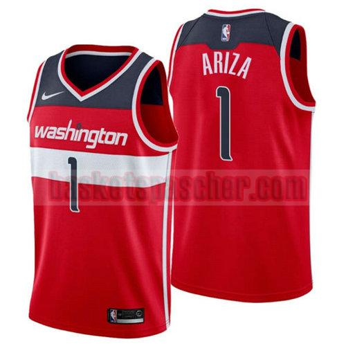 Maillot Washington Wizards 2018-2019 Trevor Ariza 1 Homme Rouge
