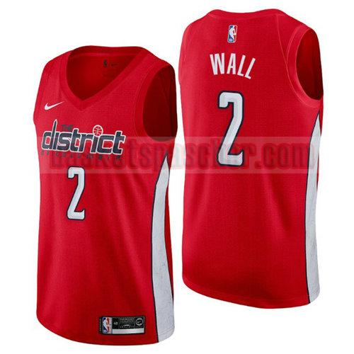 Maillot Washington Wizards Earned 2019 John Wall 2 Homme Rouge