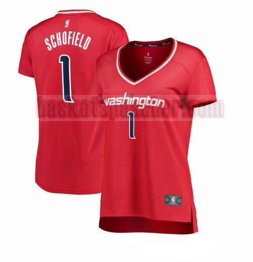 Maillot Washington Wizards icon edition Admiral Schofield 1 Femme Rouge
