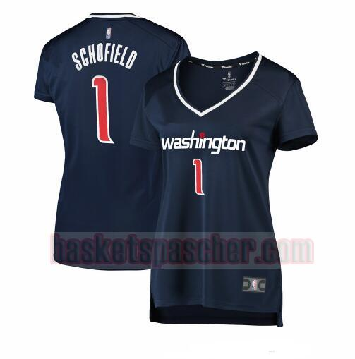 Maillot Washington Wizards statement edition Admiral Schofield 1 Femme Bleu marin