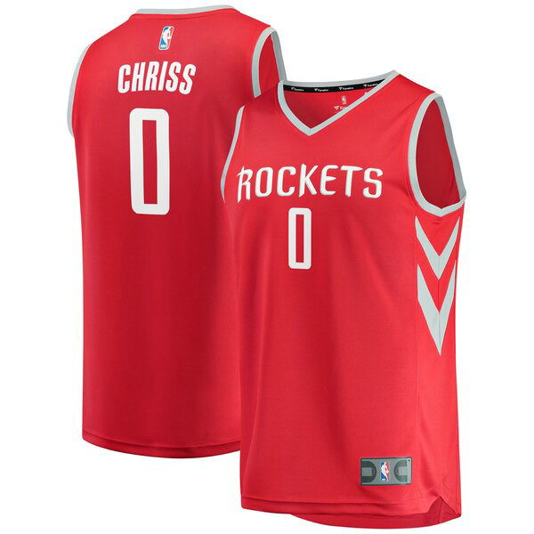 Maillot Houston Rockets Icon Edition Marquese Chriss 0 Homme Rouge