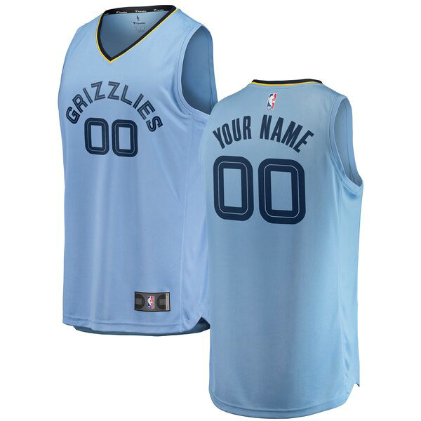Maillot Memphis Grizzlies 2018-2019 Statement Edition Custom 0 Homme Bleu