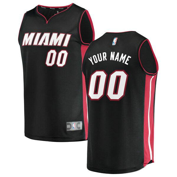Maillot Miami Heat Icon Edition Custom 0 Homme Noir