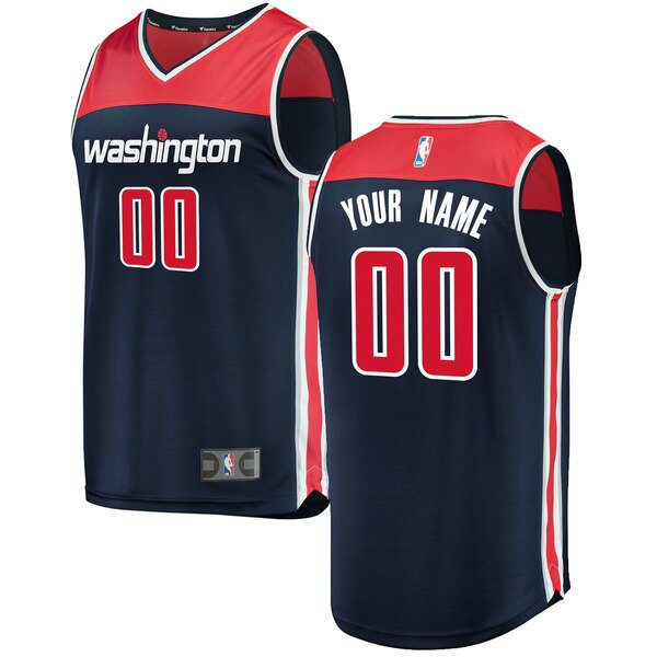 Maillot Washington Wizards Statement Edition Custom 0 Homme Bleu marin