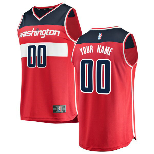 Maillot Washington Wizards Icon Edition Custom 0 Homme Rouge