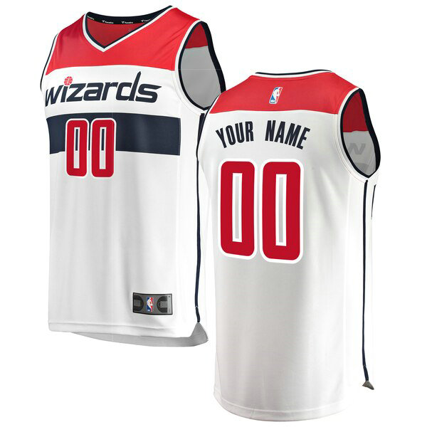 Maillot Washington Wizards Association Edition Custom 0 Homme Blanc