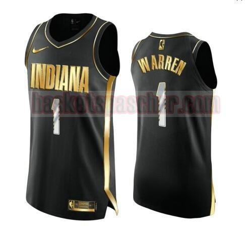 maillot Indiana Pacers 2020-21 Golden Edition Swingman T.J. Warren 1 homme noir