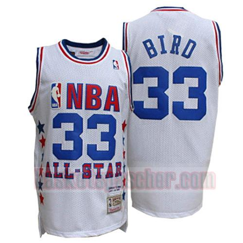 maillot all star 1990 Larry Bird 33 homme blanc