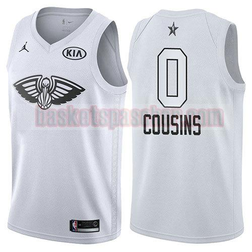 maillot all star 2018 Demarcus Cousins 0 homme blanc