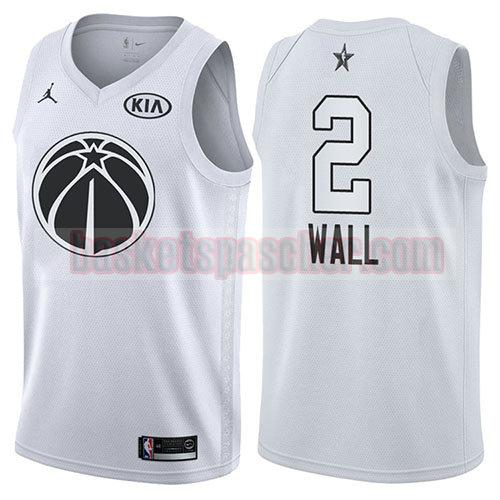 maillot all star 2018 John Wall 2 homme blanc