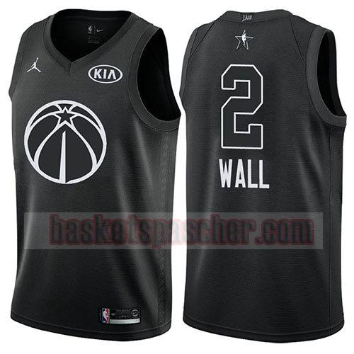 maillot all star 2018 John Wall 2 homme noir