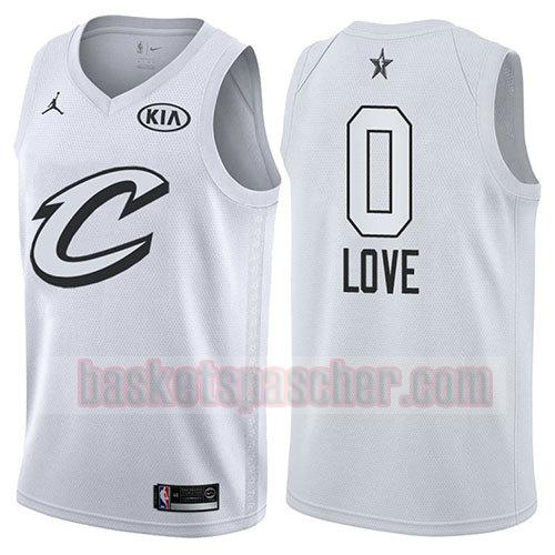 maillot all star 2018 Kevin Love 0 homme blanc