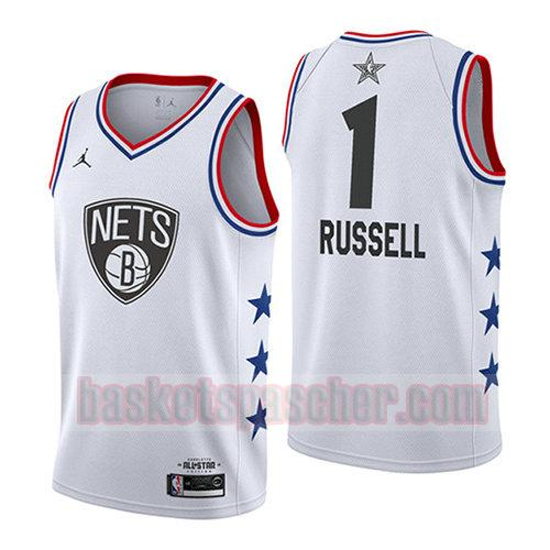 maillot all star 2019 Dangelo Russell 1 homme blanc