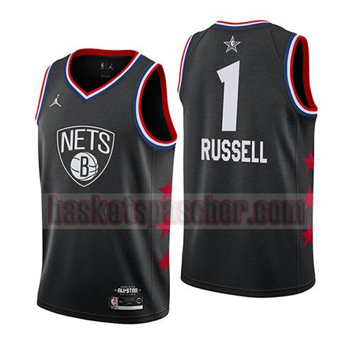 maillot all star 2019 Dangelo Russell 1 homme noir