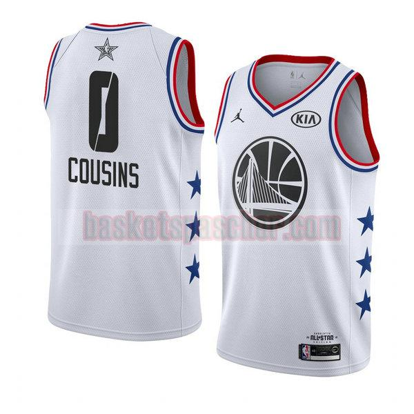 maillot all star 2019 Demarcus Cousins 0 homme blanc