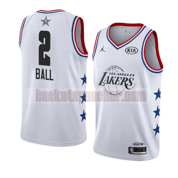 maillot all star 2019 Lonzo Ball 2 homme blanc