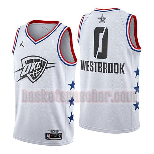 maillot all star 2019 Russell Westbrook 0 homme blanc