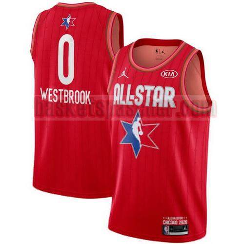 maillot all star 2020 swingman jordan Russell Westbrook 0 homme rouge