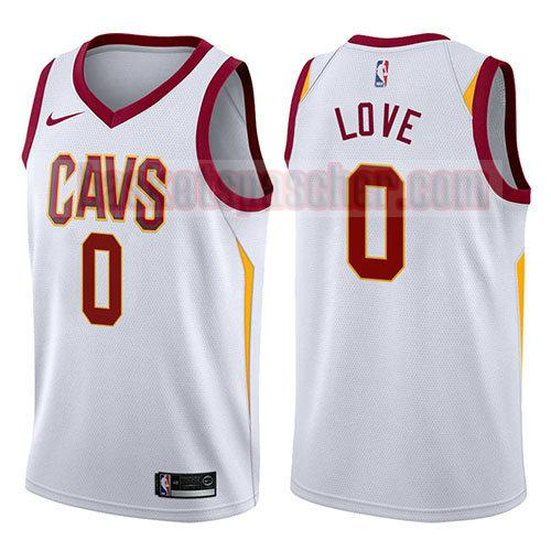 maillot cleveland cavaliers 2017-18 Kevin Love 0 homme blanc