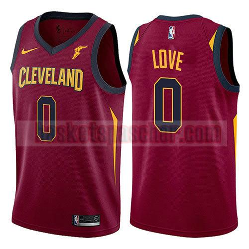 maillot cleveland cavaliers 2017-18 Kevin Love 0 homme rouge