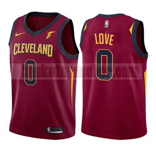 maillot cleveland cavaliers icône 2017-18 Kevin Love 0 enfant rouge