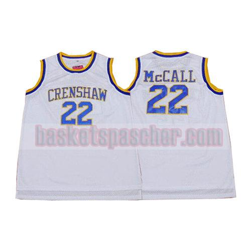 maillot crenshaw Quincy McCall 22 homme blanc