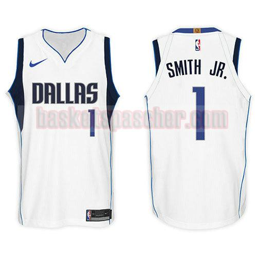 maillot dallas mavericks 2017-18 Dennis Smith 1 homme blanc