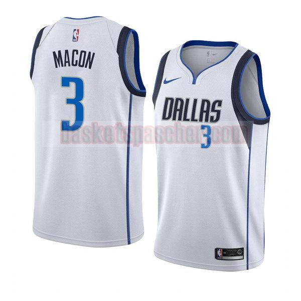 maillot dallas mavericks association 2018-19 Daryl Macon 3 homme blanc