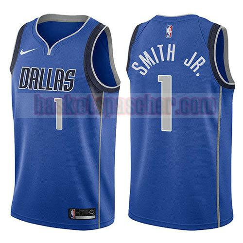maillot dallas mavericks icône 2017-18 Dennis Smith 1 homme bleu
