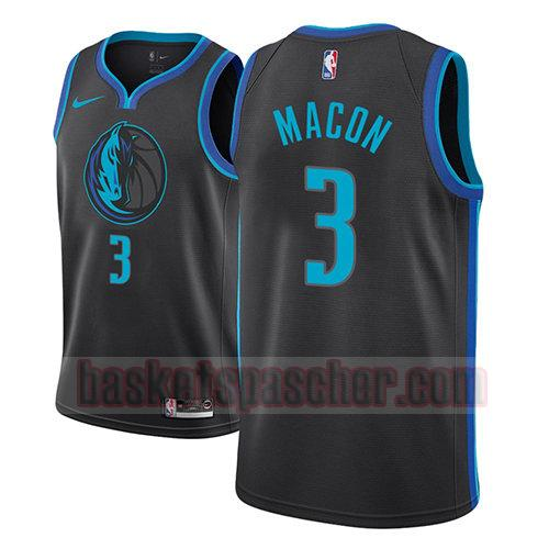 maillot dallas mavericks ville 2018-19 Daryl Macon 3 homme bleu