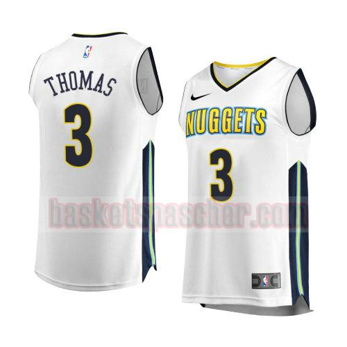 maillot denver nuggets association 2017-18 Isaiah Thomas 3 homme blanc