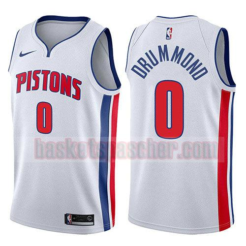 maillot detroit pistons association 2017-18 Andre Drummond 0 homme blanc