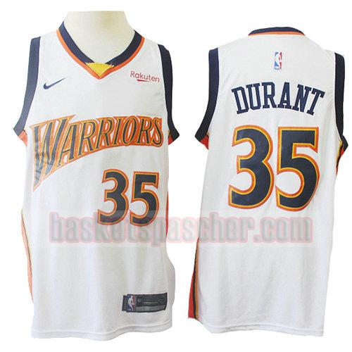 maillot golden state warriors mitchell & ness Kevin Durant 35 homme blanc