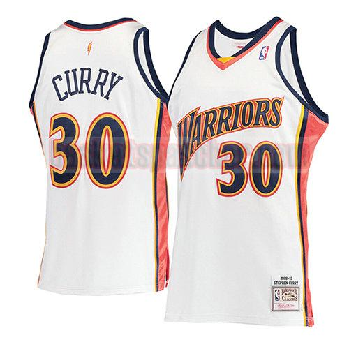 maillot golden state warriors mitchell & ness Stephen Curry 30 homme blanc