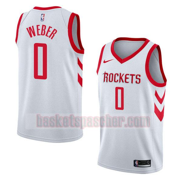 maillot houston rockets association 2018 Briante Weber 0 homme blanc