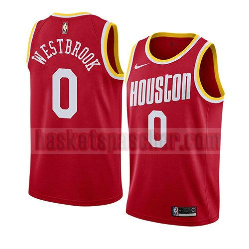 maillot houston rockets hardwood classics 2019-20 Russell Westbrook 0 homme rouge