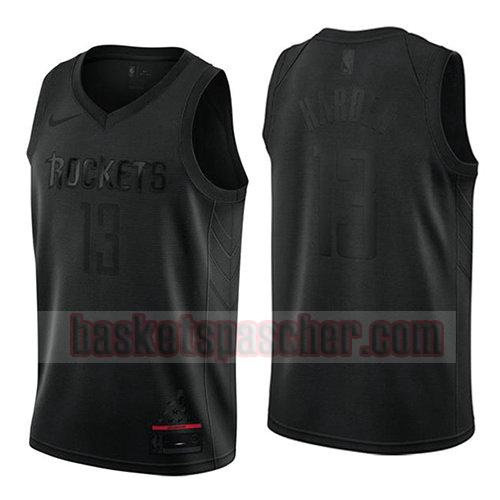 maillot houston rockets mvp James Harden 13 homme noir