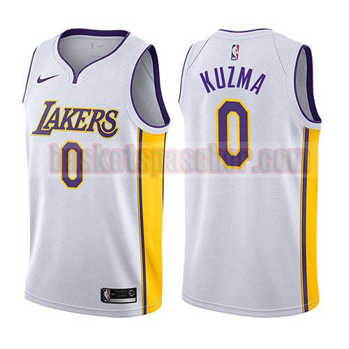 maillot los angeles lakers 2017-18 Kyle Kuzma 0 homme blanc