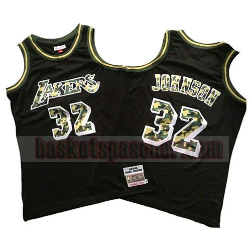 maillot los angeles lakers camouflage Magic Johnson 32 homme noir