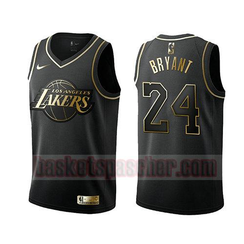 maillot los angeles lakers golden edition Kobe Bryant 24 homme noir