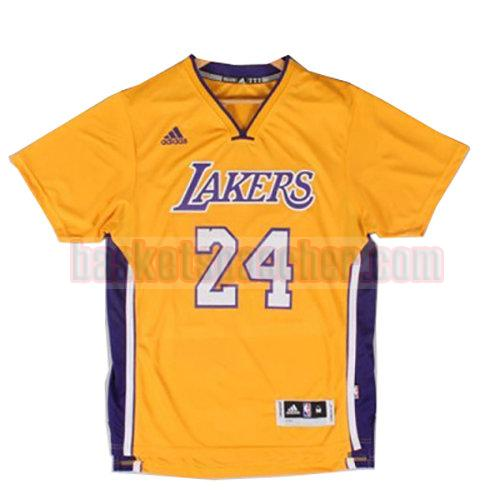 maillot los angeles lakers manche courte Lakers Kobe Bryant 24 homme jaune