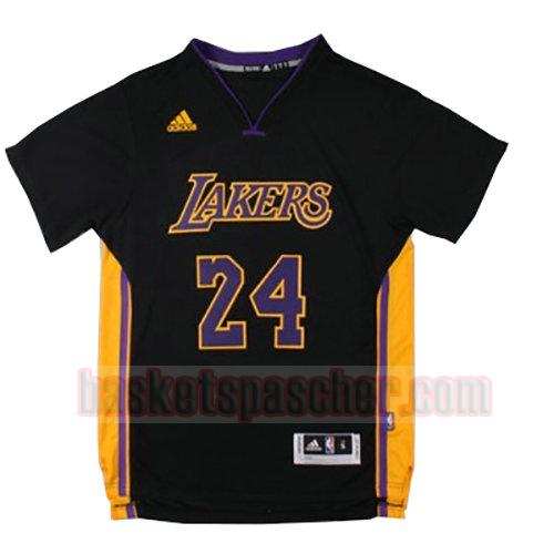 maillot los angeles lakers manche courte Lakers Kobe Bryant 24 homme noir