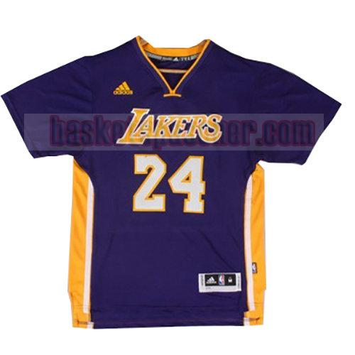 maillot los angeles lakers manche courte Lakers Kobe Bryant 24 homme pourpre