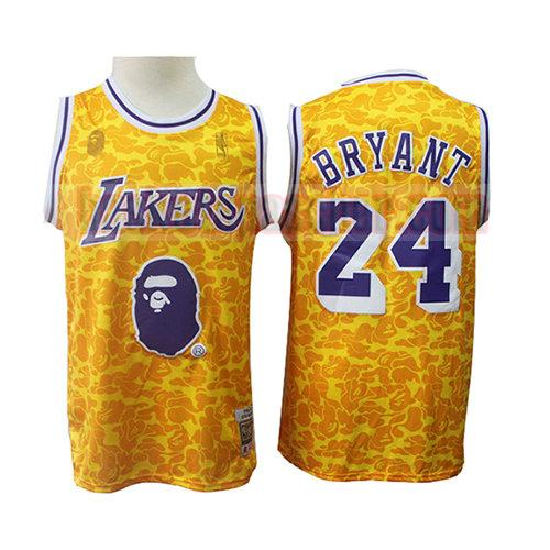 maillot los angeles lakers mitchell & ness Kobe Bryant 24 homme jaune