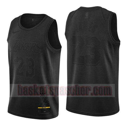 maillot los angeles lakers mvp Lebron James 23 homme noir