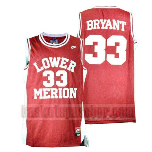 maillot lower merion Kobe Bryant 33 homme rouge