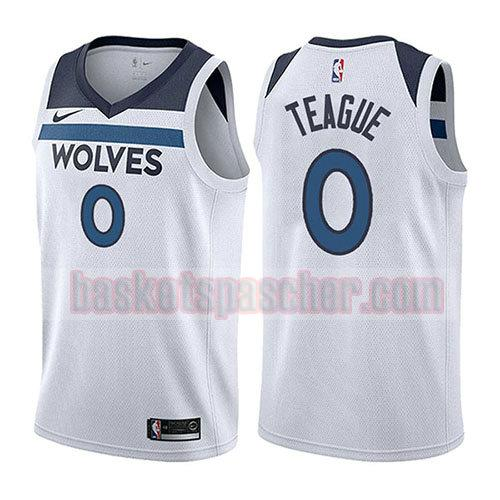 maillot minnesota timberwolves association 2017-18 Jeff Teague 0 homme blanc
